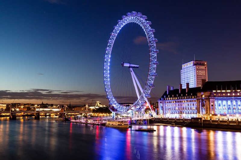 london eye cityscape